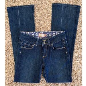 Paige Hidden Hills Boot Cut Dark Wash Jeans 26
